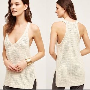 Anthropologie month sunidra Crochet tank